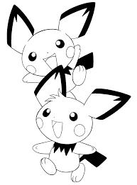 Pokemon Paradijs Kleurplaat Pichu Bros