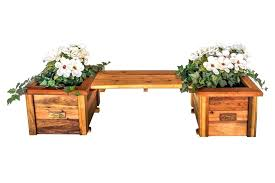 flower pot bench planter boxes with attached workbench plans outdoor wood ben