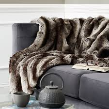 gray faux fur throw. Contemporary Throw Ombre Faux Fur Throw  Gray For I