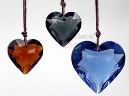 heart pendants crystals