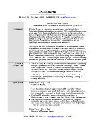 Mechanical Engineering Resume Templates 14 Maintenance Or Mechanical