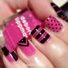 Pink Nail Art Design 55 Trendy Black And Pink Nail Art Design Style Ideas