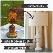 Painting Glass Lamps From Gardners 2 Bergers Always Never Done How To Spray Paint Old