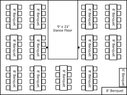 banquet table layout generator 30 x 40 w banquet tables buffet dance floor super stuff