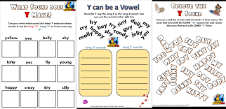 Phonics is a method of teaching kids to learn to read by helping them to match the sounds of letters, and groups of letters, to distinguish words. Y As A Vowel Worksheets Making English Fun