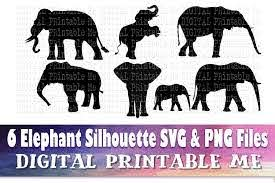 Elephant Silhouette Bundle Graphic By Digitalprintableme Creative Fabrica