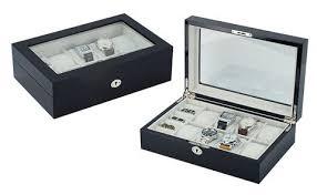 cufflink organizers mybitti com top quality mens piano finish black wood watch and cufflink organizer jewelry box java