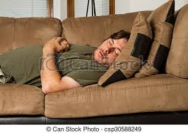uncomfortable couch. Man Just Out Cold - Csp30588249 Uncomfortable Couch