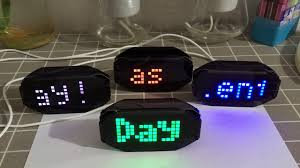 diy black digital led mirror clock matrix desktop alarm clock electronic learning kit module