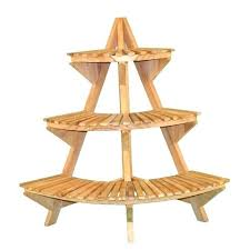 tiered wooden plant stand plans with shelf renovation 3 tier teak wood in garden stands outdoor outside plant stands tall wooden