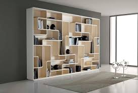Bookcase Design Ideas astounding wall grey wooden bookcase design on modern living room