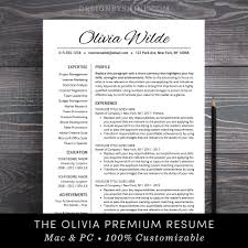 Resume Template Creative Cv Template Teacher Resume Template Professional Resume Word Mac Pages Instant Download Free Cover Letter Olivia