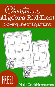 these adorable riddles are a fun way to practice solving linear equations includes 1