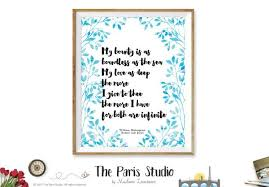 Printable Art Shakespeare Romeo And Juliet Quote By The Paris Studio Gorgeous Quotes From Romeo And Juliet