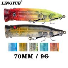 runature fishing popper lures artificial hard lure 105mm 16g topwater crankbait tackle bait