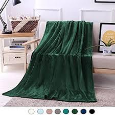 Green Velvet Throw Blanket
