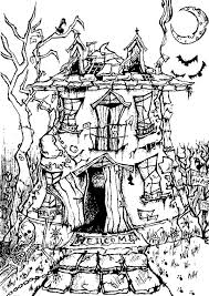 Small Picture Scary Adult Halloween Coloring Pages 25485 Bestofcoloringcom
