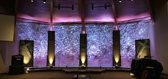 Church Stage Design Ideas Sprawling Screens