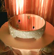 20 Round Crystal Covered Cake stand by POSHWeddingDecor on Etsy, $425.00
