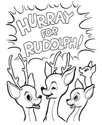 Small Picture Rudolph The Red Nosed Christmas Reindeer Coloring Pages Free