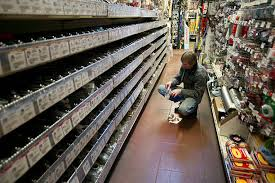 ace hardware inside. inside an ace hardware store ahead of durable goods orders ace e