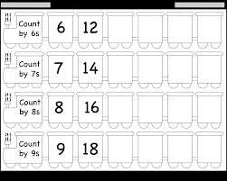 Count By 7s Chart Skip Counting By 6 7 8 And 9 Worksheet Free Printable