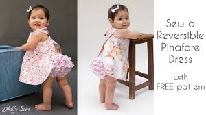 Baby Girl Dress Patterns Enchanting How To Sew A Criss Cross Pinafore Baby Girl Dress YouTube