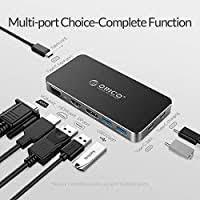 <b>ORICO USB C</b> Hub, 8 in 1 <b>Type</b>-<b>C</b> Multifunction Aluminum: Amazon ...
