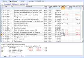 Transactions Banana Accounting Software