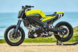 they ve created a custom carbon flat tracker that ll do it all from dakar to the drag strip they call it suzuki mellow v track 1000