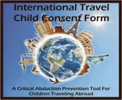 International Travel Child Consent Form | International Parental ...