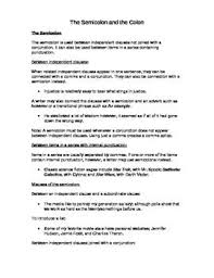 Semicolons And Colons Worksheets Grammar Colon And Semicolon Notes And Worksheet