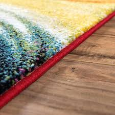 home plush nursery rug baby rugs blooms multi color geometric brush stroke area shed free modern