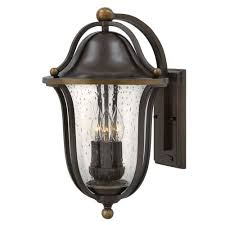 bolla olde bronze three light outdoor wall sconce