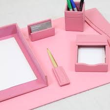 bonded leather desk set 6 piece pink. Save Bonded Leather Desk Set 6 Piece Pink