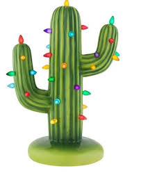 Christmas Cactus Light Up Cactus Light Up Ceramic Tree Cactus Light Green Led Ceramics