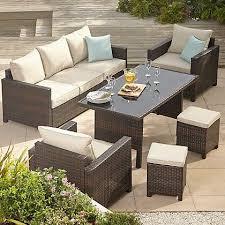 jakarta 5 piece sofa dining set linen