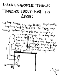 Thesis Writing Cartoon