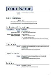 Free Printable Resumes Templates Stunning Resume Free Templates Microsoft Word Esdcubaco