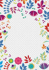 Flower Edge Design Pink And Yellow Floral Background Wedding Invitation Party