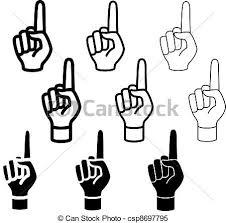ベクトル 手 警告 容易である 人差し指 線 厚さ 変化しなさい