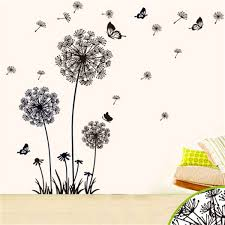 Dandelion Growth Chart Oversize Dandelion Butterfly Wall Stickers Living Room Background Wallpaper Morden Home Decor Removable Sticker Hot Sale 3 2ht Ww Wall Art And