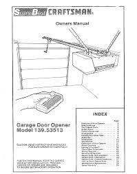 sears electronic garage door opener