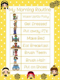 Daily Routine Chart 4 Cheer Themed Daily Routine Charts Preschool 3rd Grade Routine Activity