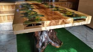 Table Coffee Wood And Epoxy Resin Möbel Möbelideen Epoxidharz