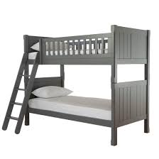 charterhouse childs wooden bunk bed frame children s wooden bunk bed kids grey bunk bed