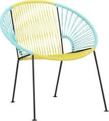 cb2 outdoor furniture. outdoor seating ixtapa yellowaqua lounge chair in sale cb2 furniture