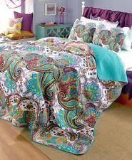 Moroccan Quilt   eBay & New Nirvana Boho Hippy Teal Paisley Reversible Bed Quilt Bedding & Shams  KING Adamdwight.com