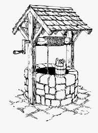 Water Well Design Drawing Line Art Water Well Clipart Black And White Free