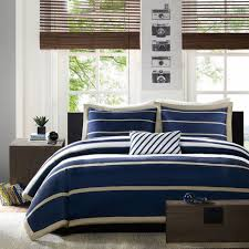 com mi zone ashton duvet cover set navy blue full queen home kitchen